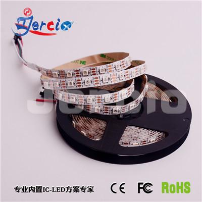 阶新led幻彩灯条xt1511 5v60灯单点单控灯带